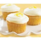 Lemon PHILLY Cupcakes - Light, lemony cupcakes are frosted with a fresh-tasting icing made with cream cheese.