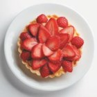 Strawberry Tart with Truvia(R) Natural Sweetener - A beautiful arrangement of berries on top of velvety pastry cream make this mini strawberry tart a delicious treat for two.  This strawberry tart is sweetened with Truvia(R) natural sweetener and has no added sugar.