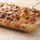 Baked Spaghetti - This yummy spaghetti casserole will be requested again and again for potlucks and family gatherings. From Westminster, Maryland, Louise Miller writes, 'It's especially popular with my grandchildren, who just love all the cheese.'