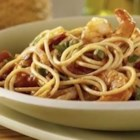 Spaghetti with Fennel and Shrimp - Adventurous pasta eaters everywhere will love this delicious shrimp recipe made even healthier with PLUS for an extra boost of protein, fiber and ALA Omega-3.