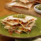 Johnsonville(R) Chipotle Monterey Jack Cheese Chicken Sausage Quesadillas - Need a quick snack or light lunch? Try these chipotle chicken sausage quesadillas with chopped red pepper, green onions, and shredded Colby Jack cheese!