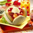 Summer Delight Salad - Topped with sherbet, this fruit salad recipe is a guaranteed delight any time of year.