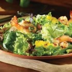 Summer Salad with Grilled Shrimp and Pineapple in Champagne Vinaigrette - Freshen up your grill with this mouthwatering summer salad recipe from Carapelli Extra Virgin Olive Oil. Made for sharing, this salad is savory, sweet and all-together amazing.