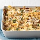 Creamy Tuna Noodle Casserole - Classic, comforting tuna noodle casserole with extra creamy sauce is ready to serve in 45 minutes.