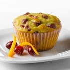 Cranberry Orange Muffins with Truvia(R) Baking Blend - These tart, fresh-tasting muffins are a bright addition to the breakfast or brunch table. Made with Truvia(R) Baking Blend, these muffins have 70% less sugar* than the full sugar version.