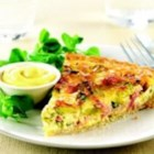 Leek and Bacon Quiche with Maille(R) Dijon Originale Mustard - This elegant quiche is filled with leeks, Swiss cheese, and bacon--for a crowd-pleasing brunch main dish.