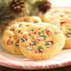 Peppermint Cookies - Crunchy peppermint candies add flavor and texture to these buttery sugar cookies. Perfect for the holidays!