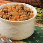 Autumn Beef Stew - Let the aroma of this savory supper welcome you home after work. Chock-full of tender beef, hearty potatoes and colorful carrots, this down-home dinner is a staple at Margaret Shauers' kitchen in Great Bend, Kansas.