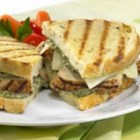 Grilled Chicken Panini - Simple ingredients make for big flavor in this grilled chicken panini with pesto and provolone cheese.