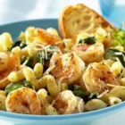 Lemon Pepper Pasta with Shrimp - Lemon flavor enhances shrimp and pasta in this easy anytime meal.