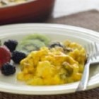 Night Before Scrambled Eggs - Egg farmers Larry and Jane Rundle from Woodham, Ontario, enjoy this recipe on Christmas morning and it can be prepared the night before.