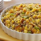 Southwestern Cornbread Stuffing from Del Monte - This cornbread stuffing with green chilies, oregano, whole kernel corn, and toasted pecans is ready to serve in 40 minutes.