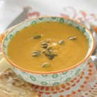 Creamy Pumpkin Curry Soup - This nourishing soup is free of saturated fat and cholesterol-free. Pair it with a salad for a satisfying lunch or light supper.