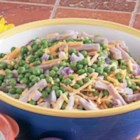 Ham and Pea Salad - In Ephrata, Washington, Laura Whitney needs just five ingredients to create this quick colorful salad. 'I work 10-hour days and have little time to spend in the kitchen, so I look for all the shortcuts I can find,' she explains.