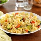 Farfalle with Zucchini, Carrots, Fennel, Marjoram and Parmigiano-Reggiano Cheese - Fresh veggies--zucchini, carrots, fresh fennel--are tossed with PLUS multigrain pasta, fresh marjoram and grated cheese for a quick and colorful dinner.