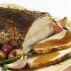 Savory Herb Pork Roast with Gravy - This savory pork roast will be the centerpiece of your Christmas or Easter dinner.