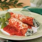 Spinach Manicotti - Stuffed with ricotta cheese and spinach, this Italian-style entree is flavorful and filling. I particularly like this meatless dish because I don't have to cook the pasta before assembling.     --Mary Steiner of West Bend, Wisconsin
