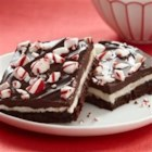 Peppermint Bars from McCormick(R) - An extravagant dessert of a fudgy brownie layered with peppermint frosting and a rich chocolate glaze. You'll want to include this in a holiday dessert tray or package for a cookie exchange or gift basket.