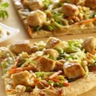 Saute Express(R) Saute Starter Thai Chicken Pizza - Kids will enjoy this easy chicken pizza topped with a Thai peanut sauce and lots of crunch.