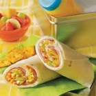 Sweet Ham Roll-Ups - Ham, Cheddar cheese and apple star in these tasty roll-ups. They're great as a snack or even for lunch!