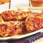 Grilled Picante BBQ Chicken - These grilled chicken breasts pack a flavorful punch with a tasty, easy-to-make sauce that combines prepared barbecue and picante sauces.