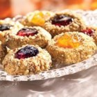 Classic Thumbprint Cookies from Crisco(R) Baking Sticks - Buttery-tasting thumbprint cookies with pecans and fruit filling are always a welcome treat.