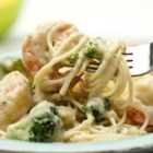 Shrimp and Broccoli - Stir-fried broccoli and garlic are perfect partners for shrimp in this savory sauce for rice or spaghetti.