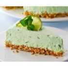 Minty Lime Freeze - This refreshing creamy freezer pie with lime and mint is made lighter with Neufchatel cheese and reduced calorie whipped topping.