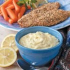 Dijon Tartar Sauce - Fat-free mayonnaise mixed only with pickle relish seemed so tasteless, so I began experimenting and came up with my own recipe for tartar sauce. It adds lots of flavor to fish, but a few calories.                                  --Kristen Flaherty of South Portland, Maine