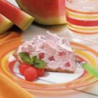 Creamy Watermelon Pie - From Carlinville, Illinois, Velma Beck reports, 'This simple pie is so refreshing that it never lasts long on warm summer days.' Watermelon and a few convenience items make it a delightful dessert that doesn't take much effort.