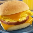 Sister Schubert's(R) Breakfast Sandwiches - These ham, egg and cheese bites are perfect for breakfast on the go.