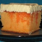 Creamy Orange Cake - Cool and refreshing like the orange cream frozen treat. Great for picnics, travels well.