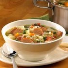 Johnsonville(R) Chipotle Monterey Jack Cheese Chicken Sausage Mexican Market Soup - This vegetable soup gets a spicy kick with the addition of sliced chipotle chicken sausage and green salsa.