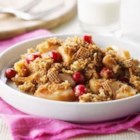 Shreddies Pear-Cranberry Crisp - A delicious and fragrant fall or winter dessert. Shreddies make the crisp topping an extra special dessert.