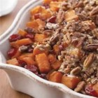 Roasted Sweet Potatoes with Cinnamon Pecan Crunch - Change up your typical mashed sweet potatoes with this colorful, easy side dish.