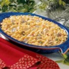 Golden Tuna Casserole - Mushrooms, green peppers and onion are added to boxed macaroni and cheese in this comforting take on the classic tuna bake. 'It is a delicious, hearty and quick-to-fix dinner,' writes Helen Suter from Golconda, Illinois. 'I serve it with a tossed salad and hot rolls.'