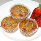 Strawberry Cinnamon Oatmeal Muffins - Start your day with these delightful, flavorful strawberry muffins!