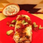 3 Cheese Enchiladas - Whip up an extra-easy dish of filled enchiladas with this recipe that uses cream cheese, Cheddar, Monterey Jack, and prepared salsa.