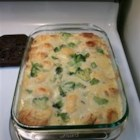 Chicken Crescent Casserole - Chicken breast meat is rolled up in store-bought crescent roll dough and baked in a creamy sauce in this comforting dish. Add some broccoli before baking to make this a complete meal.