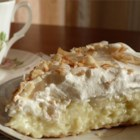 Old Fashioned Coconut Cream Pie - Sweetened toasted coconut is stirred into a homemade custard filling and poured into a pie shell. After the pie is chilled and set, it's covered with whipped topping and more toasted coconut.