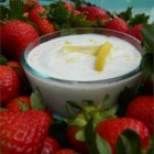 Lemon Yogurt Dip - A plate of fresh fruit turns into an extra fun treat when served with this easy yogurt dip.