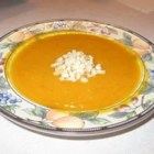 Butternut and Acorn Squash Soup - This is a rich and sweet yet surprisingly simple soup that is wonderful served hot with crusty bread or cold with a dollop of sour cream.