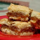 Fig Bars I - Bar cookie with a sweet figgy middle layer.