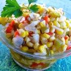 Corn Relish II - This is a super easy, very tasty relish recipe that improves with refrigeration. It's a great way to use summer corn and other fresh garden vegetables, and tastes great with a variety of meals. Present one of the colorful jars to a friend!