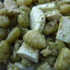 Gnocchi with Chicken, Pesto and Fresh Mozzarella - This is a quick and easy recipe for potato gnocchi with chicken and mozzarella cheese in a pesto sauce.