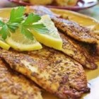 Cajun Style Blackened Snapper - Fillets of red snapper are coated with a mixture of pepper and herbs, then cooked at high heat until the coating blackens. Spicy and delicious!