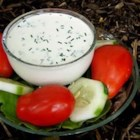 Low Fat Buttermilk Ranch Dressing - Enjoy this dressing on salads and baked potatoes or use it as a dip for vegetables.