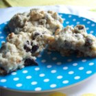 Healthy-ish Irish Oatmeal Cookies - Quick-cooking Irish oats, golden raisins, and chopped almonds pack these cupcake-like cookies with flavor and texture.