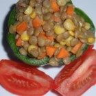 Curried Lentil Salad - This lentil salad recipe is tasty, quick, economical, and vegetarian; who could ask for more?
