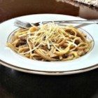 Baby Portobella Alfredo Sauce - Pureed mushrooms, onion, and garlic are cooked into a roux to make this creamy pasta sauce.